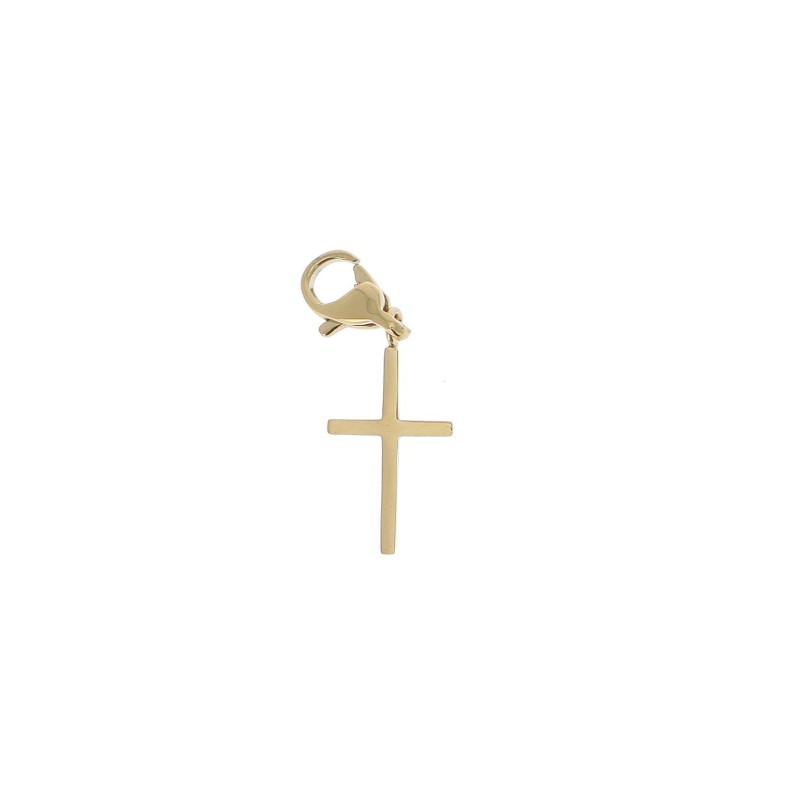 Charms croix doré acier inoxydable, Leyabijoux.com