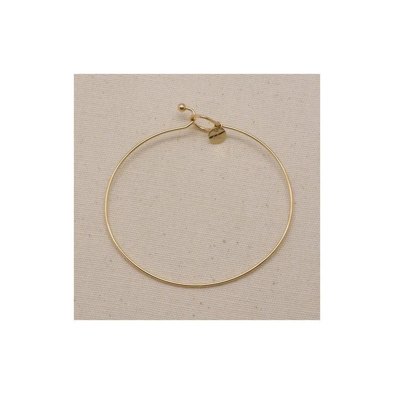 Bracelet jonc à personnaliser doré acier inoxydable; Leyabjoux.com