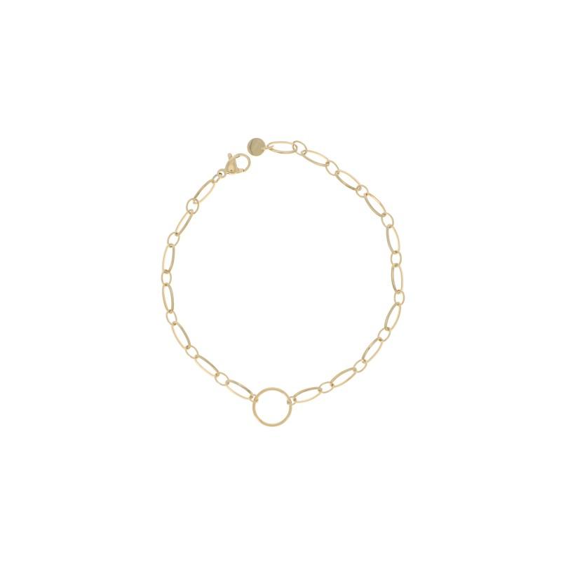 Bracelet fine maille avec maille ronde milieu, Leyabijoux.com