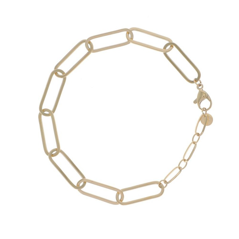 Bracelet doré maille ovale, Leyabijoux.com