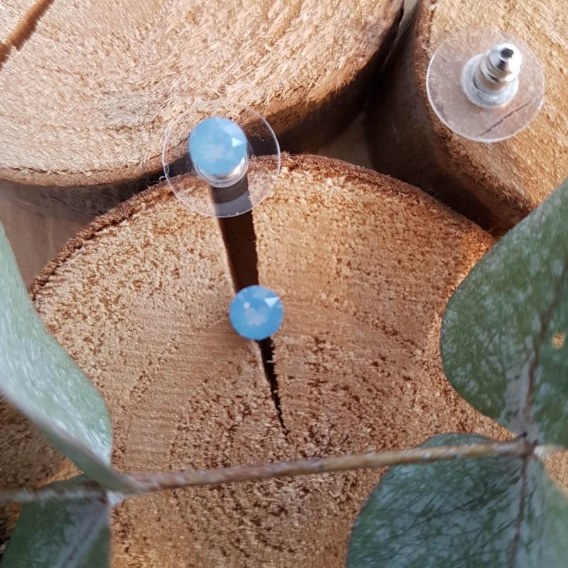 Boucles d'oreilles cristal Swarovski bleuet, Leyabijoux.com