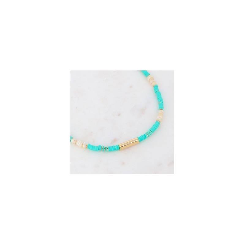 Collier turquoise Heishi