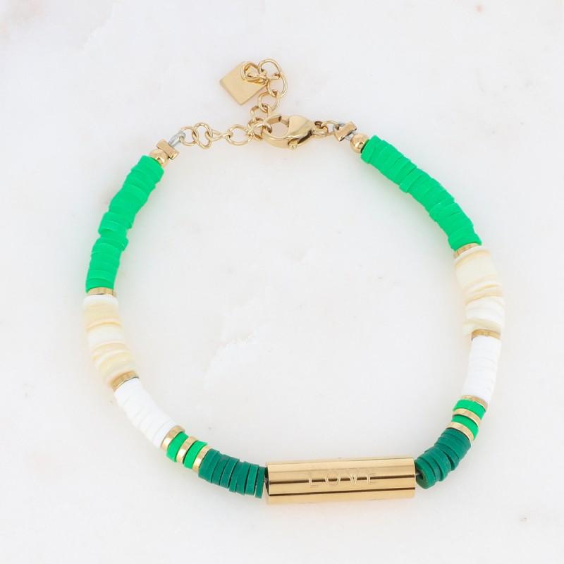 Bracelet Heishi Surf verts