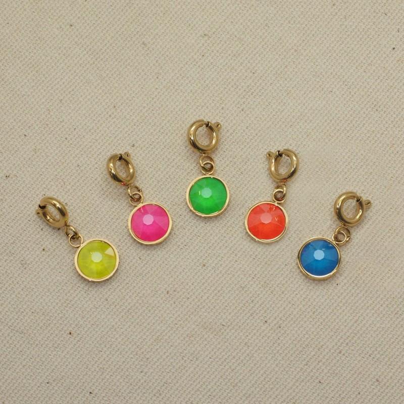 4 Charms cristaux multicolores, Leyabijoux.com